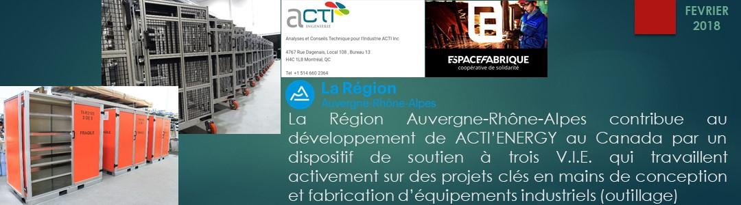 News Site -SLIDES ACCUEIL – Février 2018 ACTI'Inc VIE Soutien Région